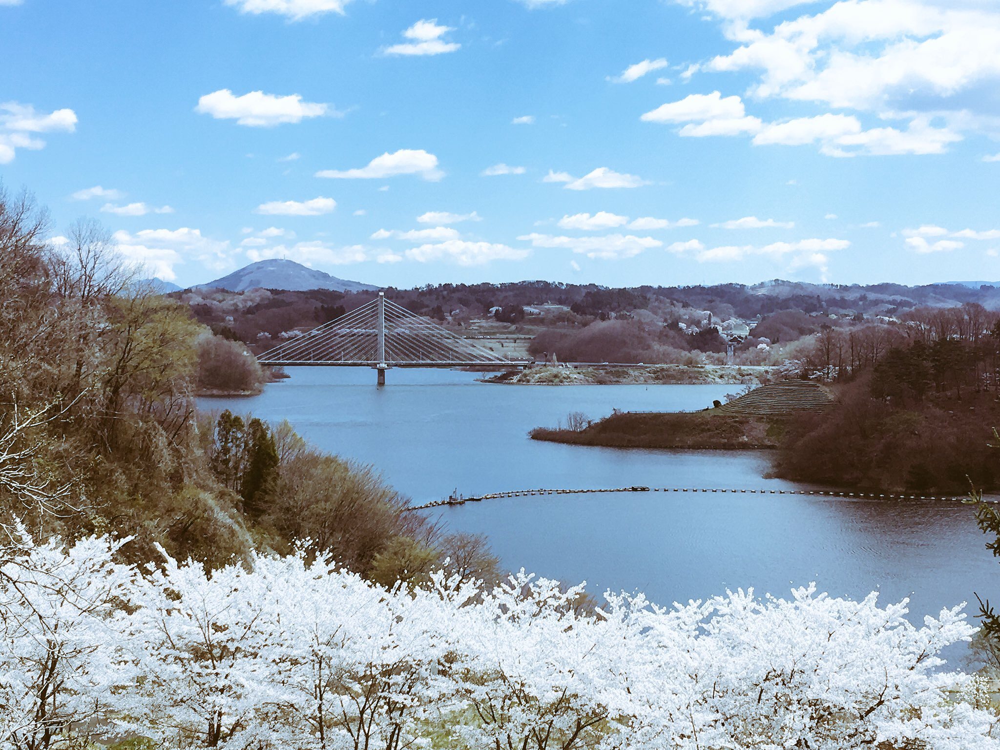 三春ダム(さくら湖)の素敵な景色
